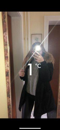Attentif Pelt Jacket black-beige