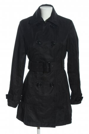 Attentif Trenchcoat schwarz Casual-Look