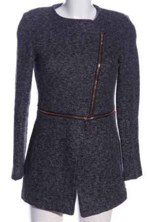 Attentif Winter Coat light grey flecked business style