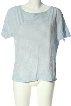 Attention T-shirt rayé bleu motif rayé style décontracté