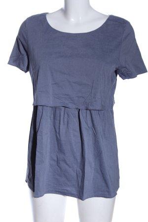ATTESA Maternity Blouse met korte mouwen blauw casual uitstraling