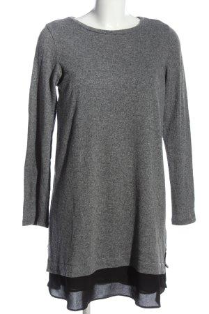 ATTESA Maternity Robe pull gris clair-noir moucheté style décontracté