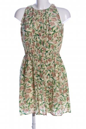 Attic & Barn Robe courte blanc cassé-vert motif de fleur élégant