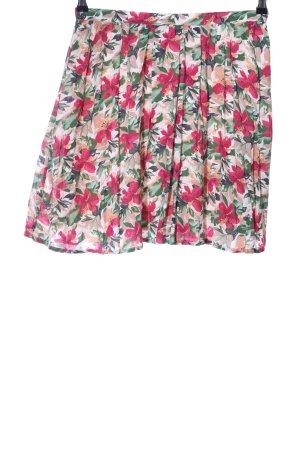 Attic & Barn Mini-jupe motif de fleur style décontracté
