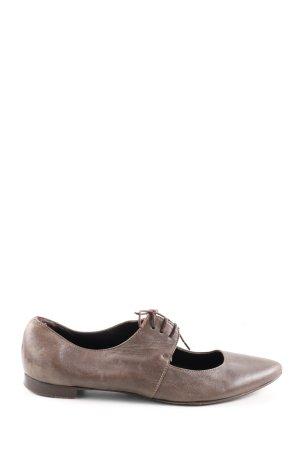 Attilio giusti leombruni Baleriny z koronką brązowy W stylu casual