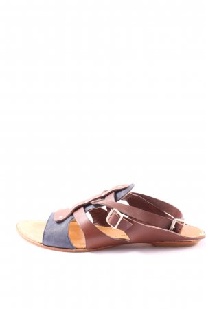 Attilio giusti leombruni Strapped Sandals brown-blue casual look