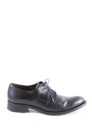 Attilio giusti leombruni Sznurowane buty czarny W stylu biznesowym