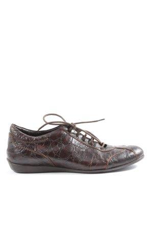 Attilio giusti leombruni Sneaker stringata marrone motivo animale stile casual