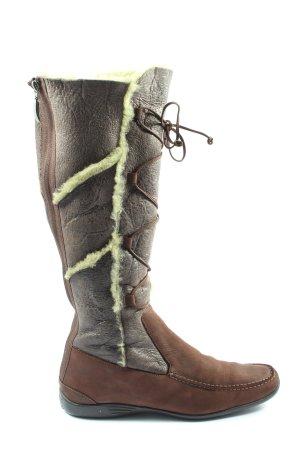 Attilio giusti leombruni Bottes plissées brun style décontracté