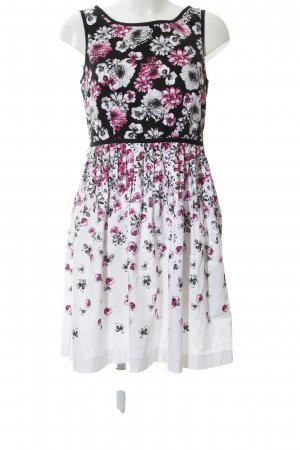 Attitude A Line Dress flower pattern casual look