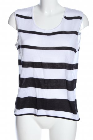 Attitude Tank Top black-white striped pattern casual look