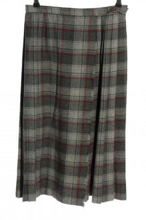 Attitude Wraparound Skirt light grey-red check pattern casual look