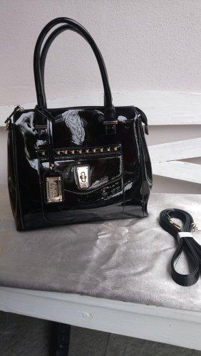 Attraktive BUFFALO Handtasche in schwarzem Lack!
