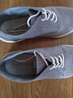Esmara Sznurowane buty szary Tkanina z mieszanych włókien