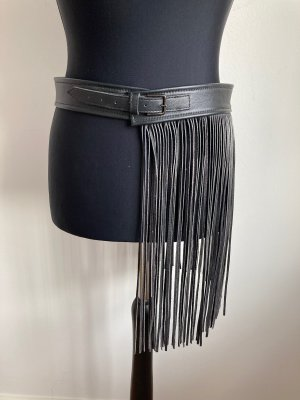 Zara Ceinture en cuir noir cuir