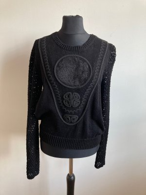 H&M Gehaakte trui zwart