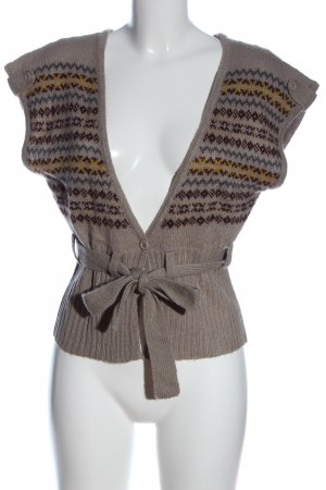 attrattivo Kurzarmstrickjacke grafisches Muster Casual-Look