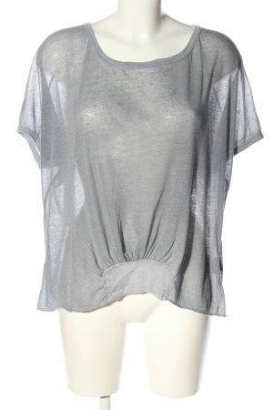 attrattivo Top extra-large gris clair moucheté style décontracté