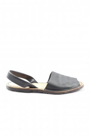 Auarca Menorquina Sandalias cómodas negro look casual
