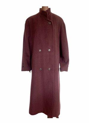 Auberginefarbener vintage Mantel