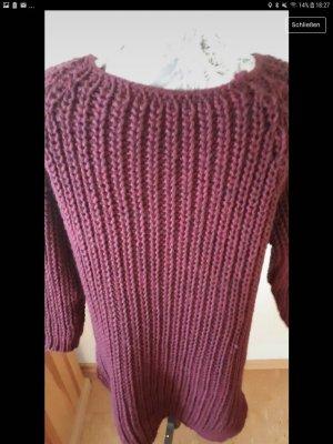 nicht angegeben Vestido de lana púrpura-lila
