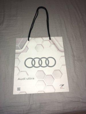 AUDI Torba shopper biały-srebrny