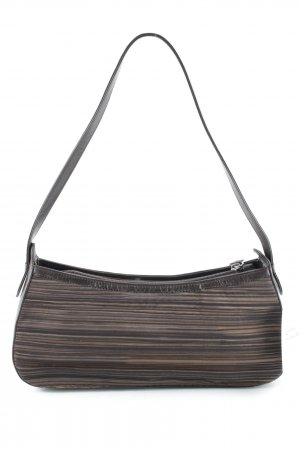 Audley Handbag dark brown-black striped pattern classic style