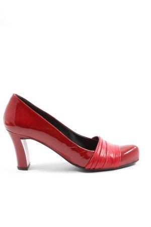 Audley Pumps met hoge zool rood elegant