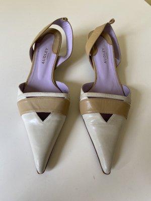 Audley Slingback Pumps cream-light brown