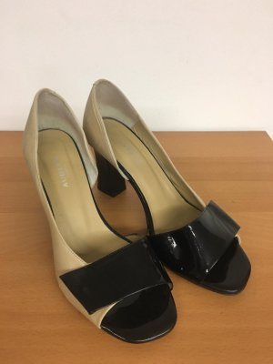 Audley Mary Jane Pumps oatmeal-black leather