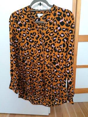 Auffällig gemusterte Langarm-Bluse im Leopardendesign von Jacqueline de Yong in Größe 34