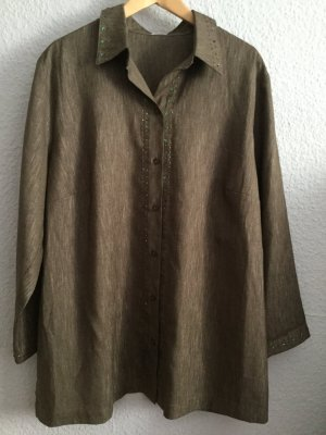 Atelier Creation Long Sleeve Blouse grey brown polyester