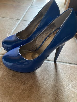 Auffaellige dunkelblaue High heels Gr. 37
