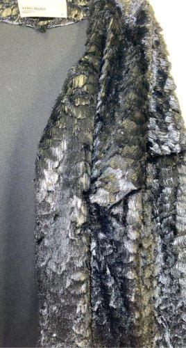 Vero Moda Futrzana kurtka czarny