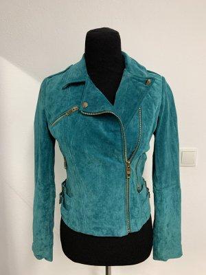 Mango Leather Jacket multicolored