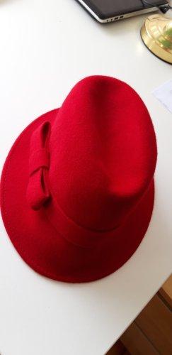 Bijou Brigitte Chapeau en feutre rouge foncé laine