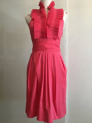 BCBG Maxazria Halter Dress magenta cotton
