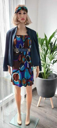 -8- Venice Robe courte rouge framboise-bleu