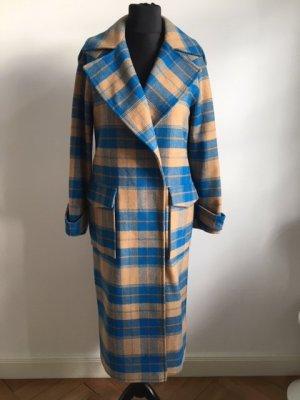 Topshop Abrigo de invierno azul neón-beige claro Poliéster