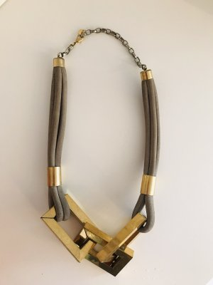 Sabrina Dehoff Collier Necklace grey-gold-colored
