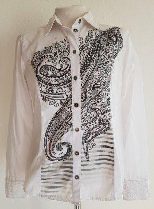 Aufwändig gearbeitete Bluse von Bonita mit Paisley-Muster, Gr. 36