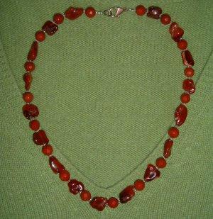 Collar rojo ladrillo-rojo claro