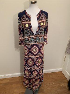 Antik Batik Maxi-jurk donkerblauw