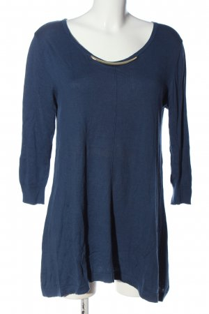 August Silk Long Shirt blue-gold-colored casual look
