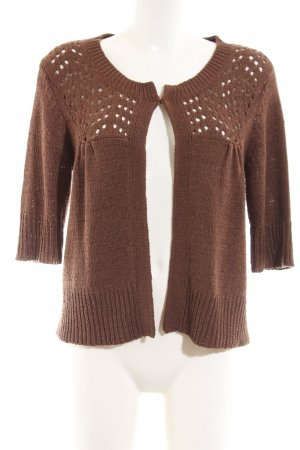 August Silk Strick Cardigan braun Casual-Look