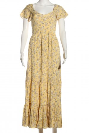 Auguste Sukienka z falbanami bladożółty-biały Na całej powierzchni