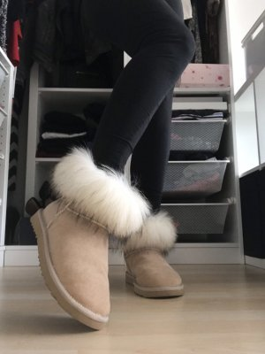Botas de nieve beige claro-blanco