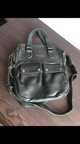 aunts & uncles Laptop bag dark green leather
