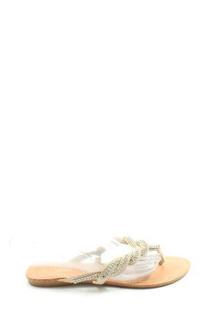 auren Sandalias Dianette crema-color plata look casual