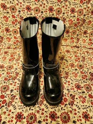 Botas moteras negro Cuero
